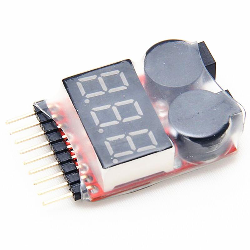 1-8S Lipo Battery Voltage Tester Low Voltage Buzzer Alarm<br><br>Aliexpress