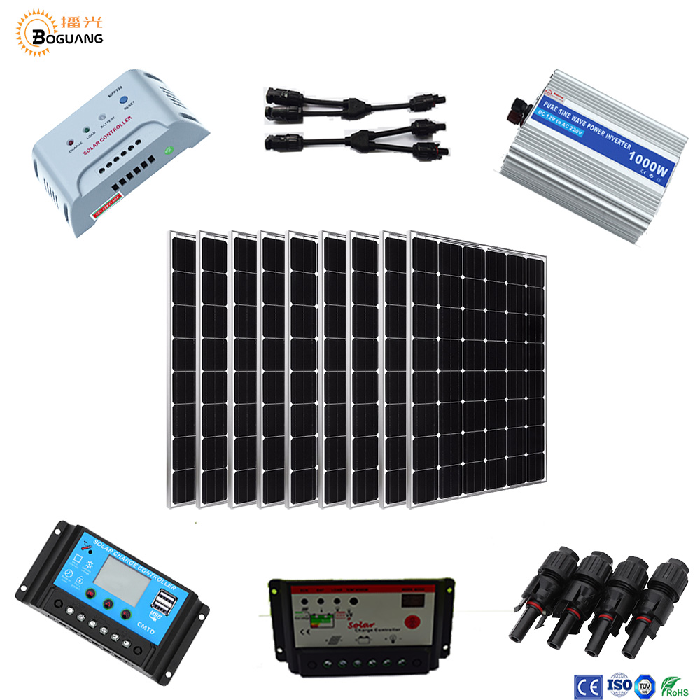 10 x 100W high efficiency monocrystalline solar panels