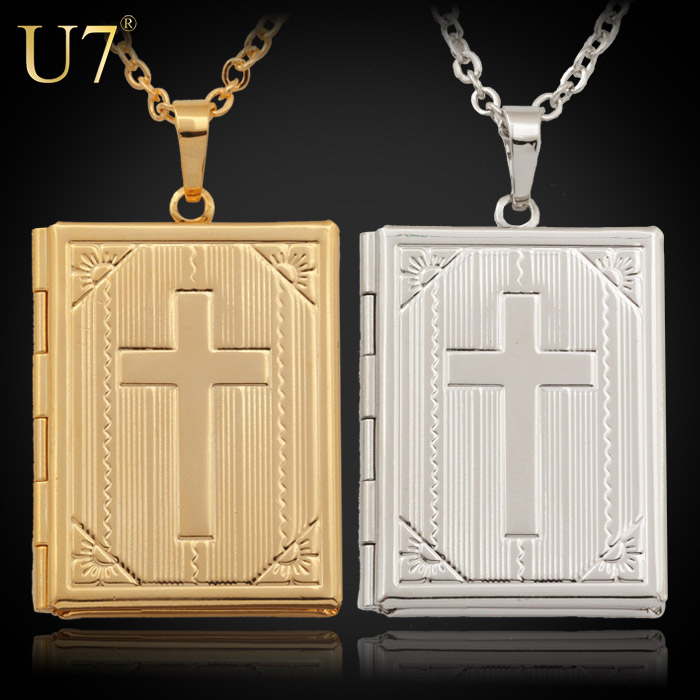 18K Gold Platinum Plated Pendant Necklace Locket Women Men Jewelry Sale New Trendy 2 Colors Choker