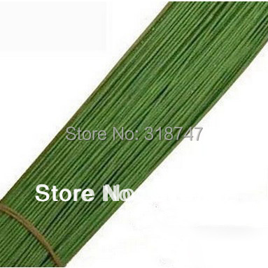 1.3mm 59cm Length green color paper pachets with wire artificial flower stem 24pcs/lot 086020033(China (Mainland))