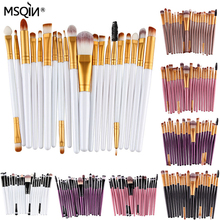 20pcs Professional Makeup Brushes Set Eye shadow Blending Brush Powder Foundation Brush Cosmetic Tool 10 Colors for your choose(China (Mainland))