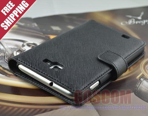 Original FEDDIST cross pattern leather case for samsung galaxy note i9220 with card 4 holders perfume luxury smartphone cover
