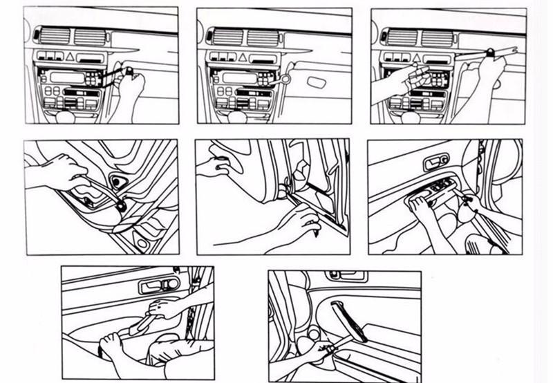 yawlooc car audio door door removal tool sticker for ford focus vw vw volkswagen jetta mk6. Black Bedroom Furniture Sets. Home Design Ideas