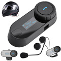 1 pcs 2016 Updated TCOM SC BT Bluetooth Motorcycle Helmet Intercom Interphone Headset with LCD screen