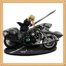 Anime brinquedos fate stay night saber Motorcycle suit PVC Action Figures Collection Model Toys Doll 29cm