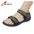 Women Beach Shoes Large Size 40 45 New 2016 Rubber Flat Shoes Summer CasualSandals
