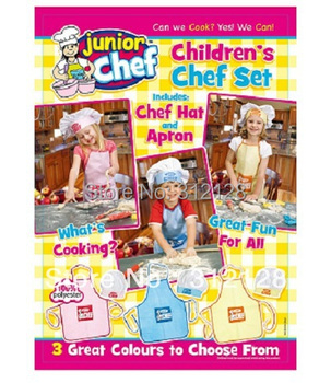 kids  apron  blue yellow pink  pinafore set 2-8 year old children  cooking cloth apron  show time apron