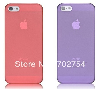 for iphone 5 case crystal clear hard plastic skin many colors 10pcs free shipping