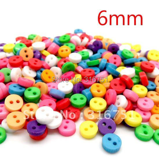 """Buttons Craft 60Random Mixed 2 Holes Resin Sewing Scrapbooking 6mm Knopf Bouton(w01361 X 1) AA - """"beads love""""No minimum order store"""