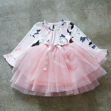 Весенне-Осенняя детская одежда с длинными рукавами для девочек повседневное школьное платье для девочек маленькое детское платье-Пачка Де...(China)