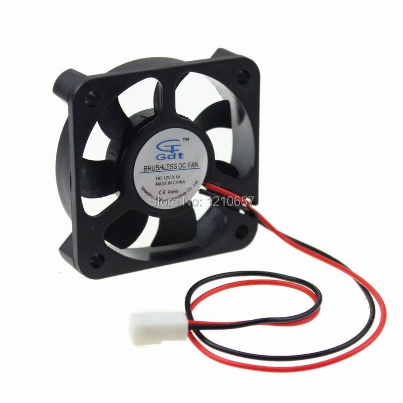 100 Pieces lot 50mm 50x10mm 5CM 5010s DC 12V 2Pin 2510 Connector Mini Brushless Cooling Cooler Fan<br><br>Aliexpress