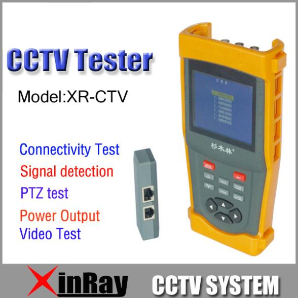 "Freeshipping 3.5"" LCD CCTV Tester Video signal test 12V Power input/output PTZ control UTP BNC Cable Test XR-CTV(China (Mainland))"