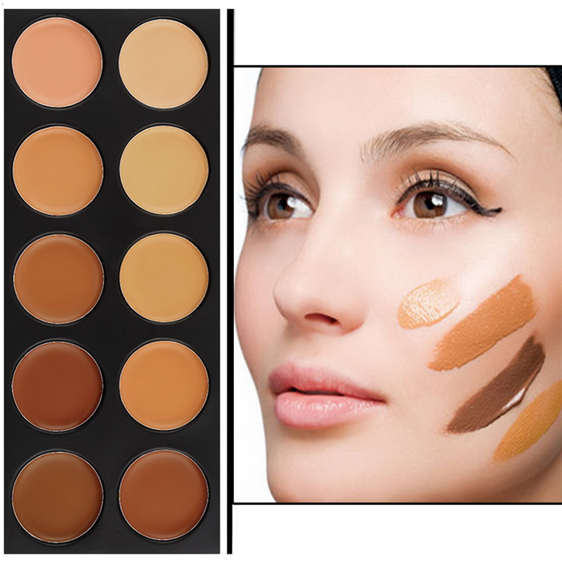 10 color Face Care Brand Base Primer Makeup Foundation Concealer Contour Palette BB Creams Professional Make Up Bronzers(China (Mainland))