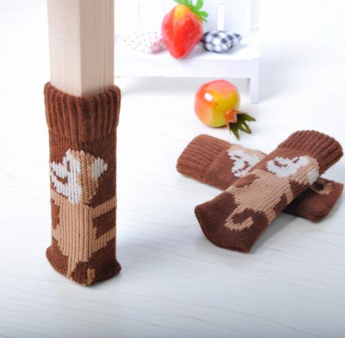 Гаджет  New 4x Knitting wool Furniture Table Chair Leg Floor Feet Cap Cover Protectors Round internal 002 None Мебель