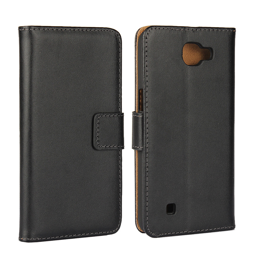 Luxury Vintage Leather Flip Case LG K4 Wallet Phone Cover Stand Card Slots