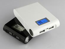 2015 Dual usb LCD power bank 12000mah portable backup battery charger powerbank carregador de bateria portatil bateria external(China (Mainland))