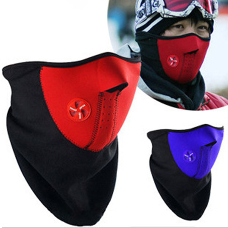 Fashion Winter Dust Face Mask Windproof Neck Guard Warm Face Mouth Mask for Men and Women Protection Bicycle/Snowboard 3 Colors(China (Mainland))