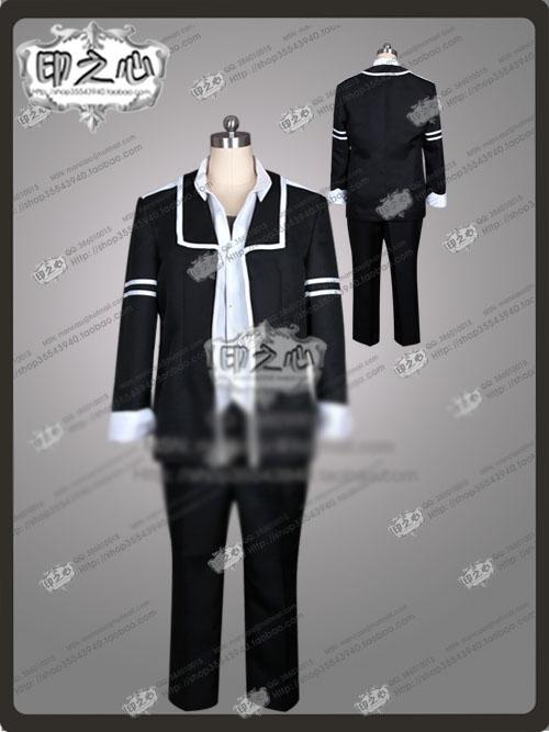 Kyoma Kuzuryu Mikagura Gakuen Kumikyoku Cosplay Costume Halloween Uniform Vest+Shirt+Coat+Pant