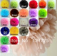 "Free Shipping 10pcs 12""(30cm) Tissue Paper Pom Poms Wedding Party Decor Craft festival decoration"