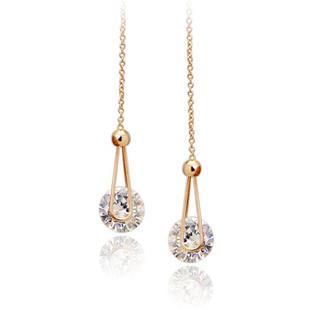 2016 New Brand Cystal Fashion Line Zirconium Jewelry Long Water stud Earrings women Jewellery - Hello Bella store