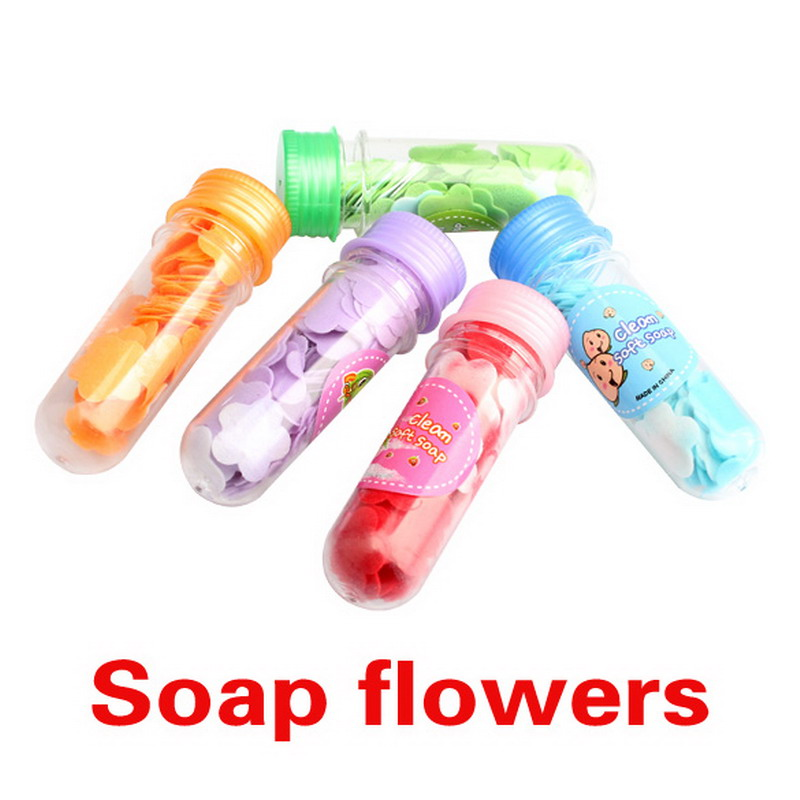 1Pcs Bath Body Soap Rose Petal Wedding Gift Favor Colors Flower Soap Random Color K5BO