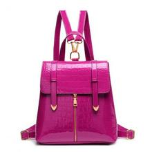 2016 New Listing patent leather crocodile pattern lady backpack factory outlets(China (Mainland))