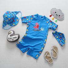 Traje De Baño Bebe traje baño niños Niño Traje de baño para Niños 2019 Nuevo dinosaurio de dibujos animados Tiburón natacion niño bañador Traje de baño para bebés de una pieza(China)