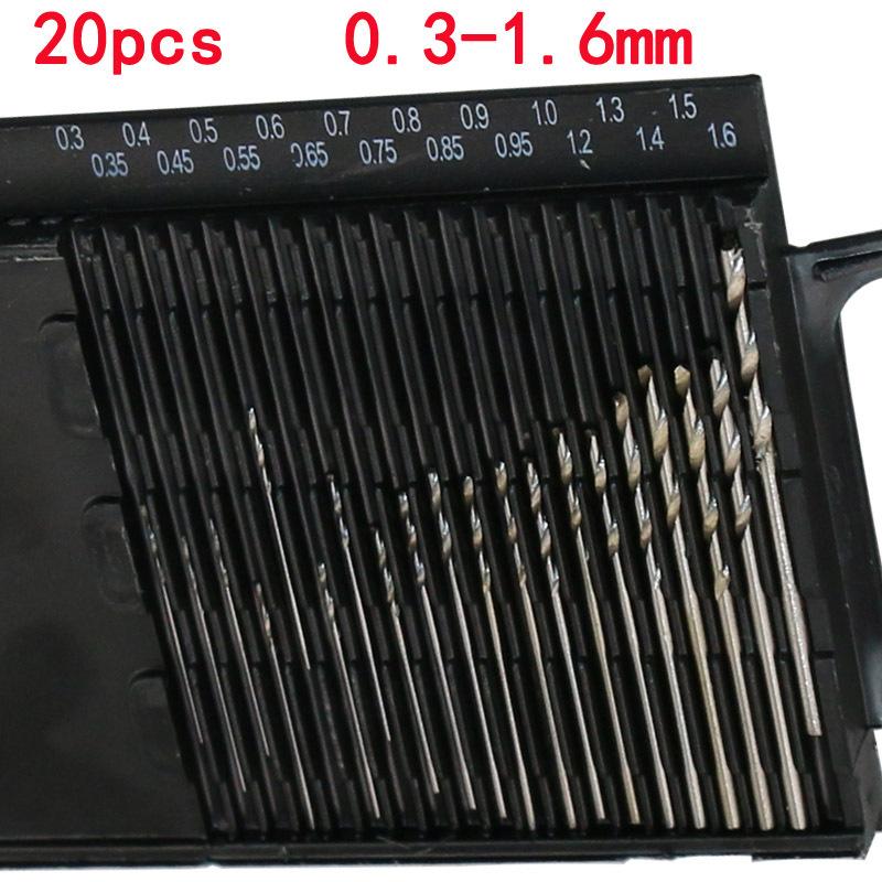 20Pcs Mini Micro HSS Twist Drill Bit Set 0.3mm-1.6mm Model Craft With Case Tool <br><br>Aliexpress