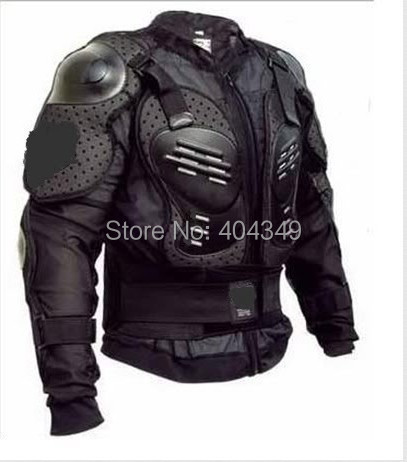 Motorcycle Full Body Armor Jacket Spine Chest Protection Gear~Size M L XL XXL XXXL black black+red - shuanghui chai's store