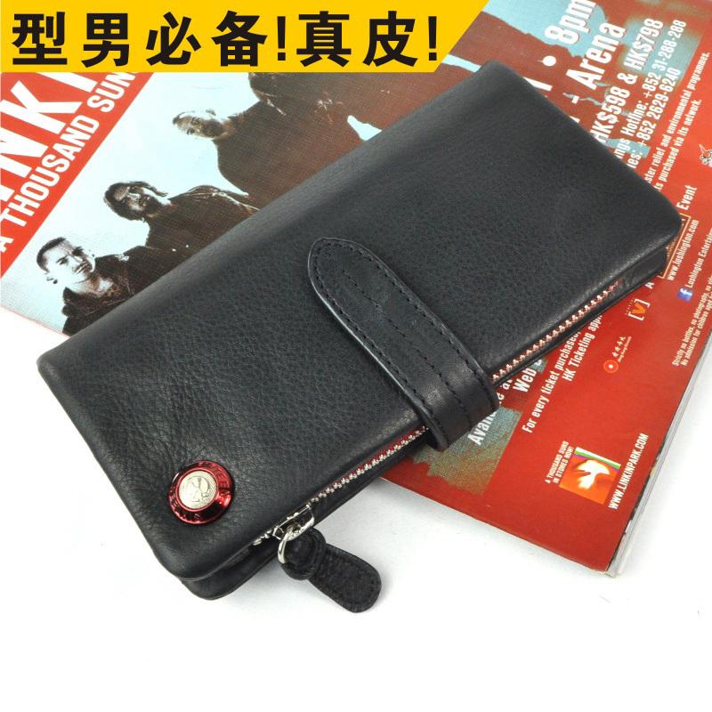Free shipping, promotion! 2014 new quality assurance leather wallet, men's leather wallet, men wallets/ wallets Men Wholesale(China (Mainland))