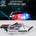 4x3 led Ambulance Police light DC 12V Strobe Warning light for Car Truck Emergency Light Flashing
