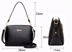 Shoulder Bag Women Chic Gorgeous Hand Bag Classic Ladies Shell-like Handbag Blue Black Red Fashion PU Casual Crossbody Bag