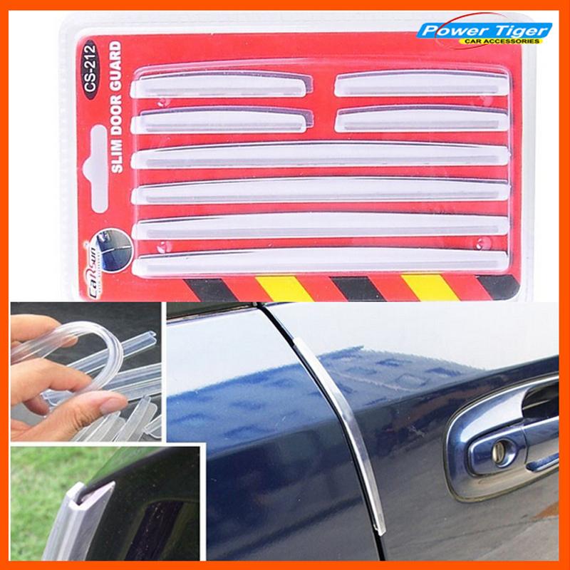 8pcs Transparent Car Door Protection Strip Clear Edge