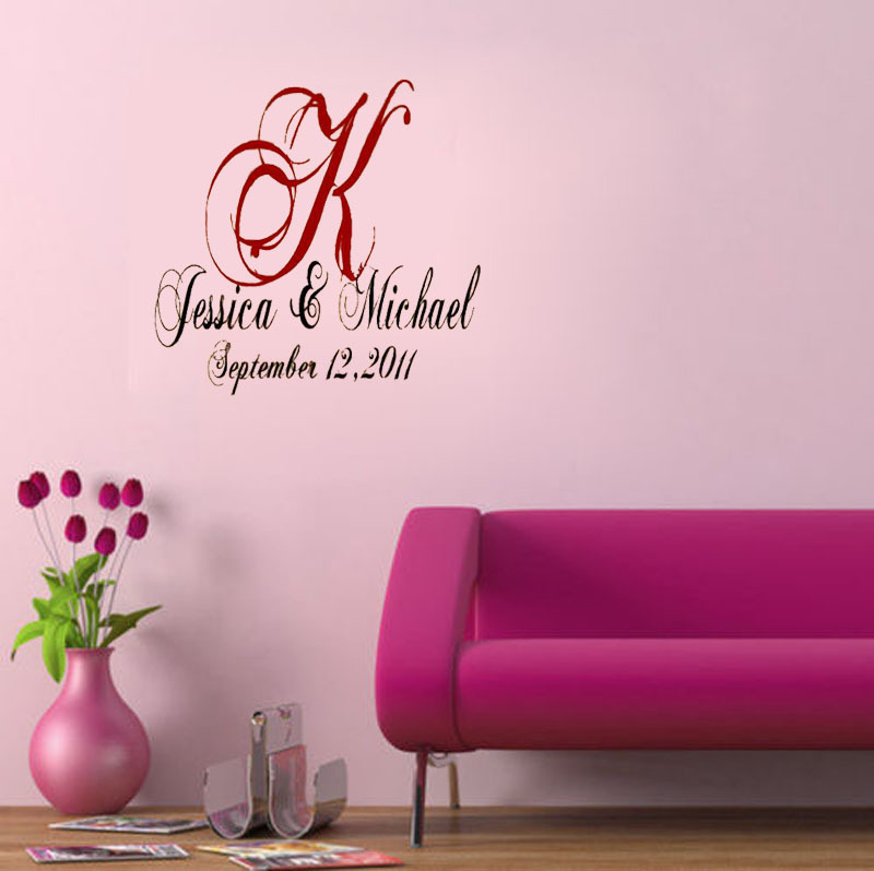 Wedding Bedroom Wall Decoration : Custom wedding party decoration dance floor decals wall
