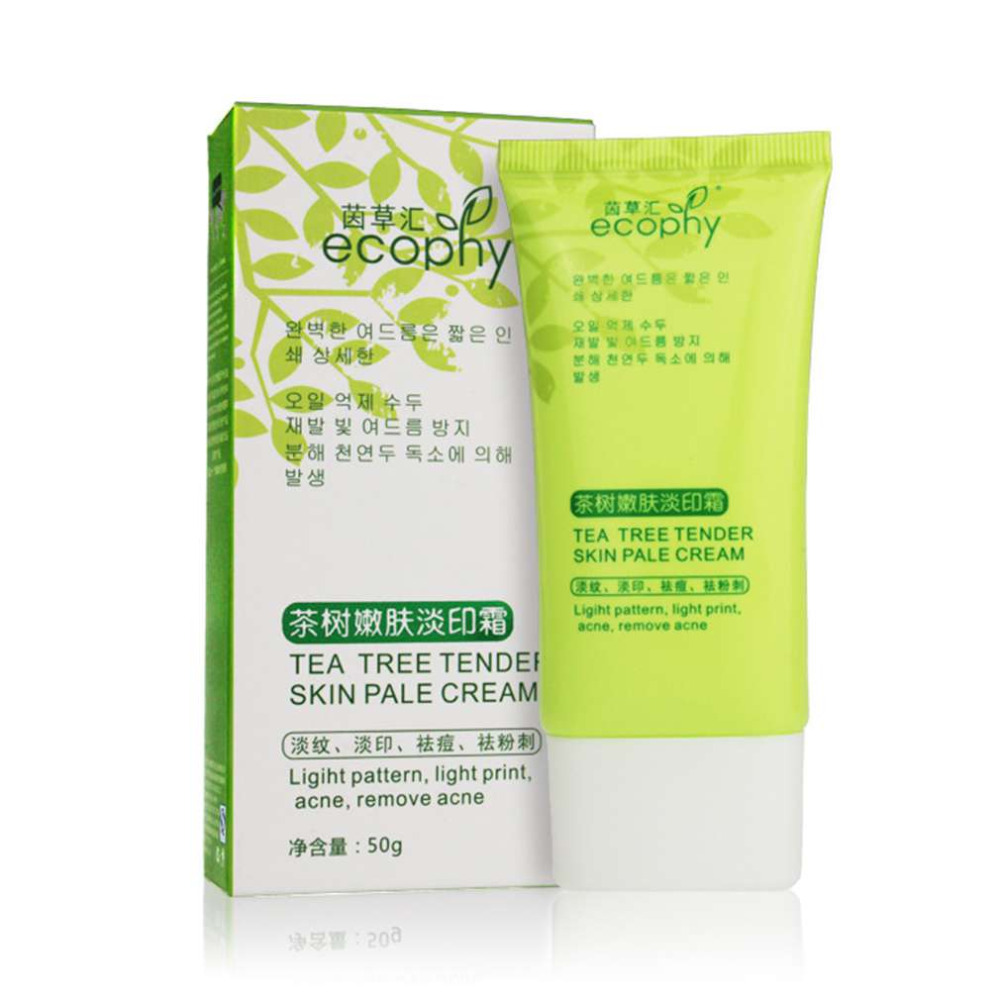 Ecophy Tea Tree Tender Light Skin Cream Acne Scar Removal Moisturizing And Shrink Pores Whitening And Moisturizing top quality