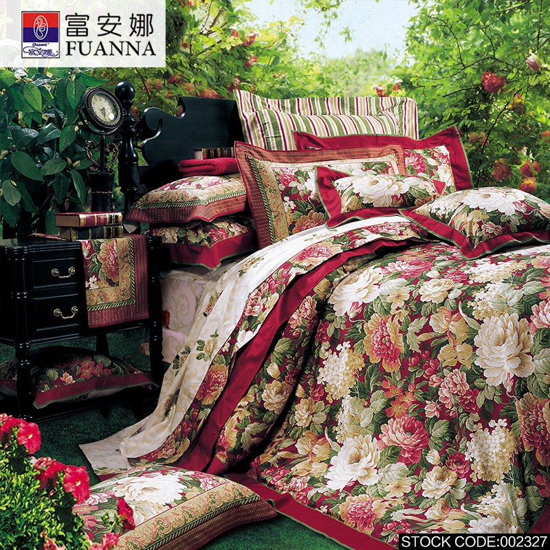 FUANNA Designer bedding bed set 4pcs duvet quilt duvet cover queen king Size pillow covers cotton bed sheets Free Shipping SNWQ(China (Mainland))