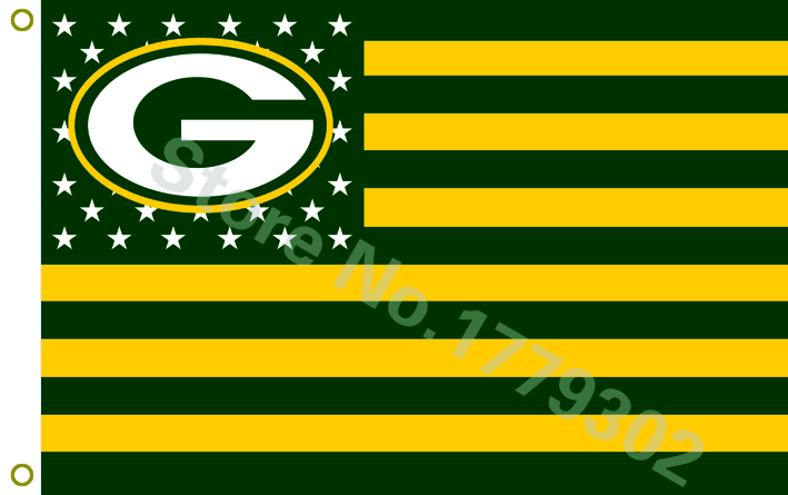 NFL flag Green Bay Packers Flag 3x5 FT(China (Mainland))