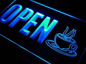 ADV PRO j779-b OPEN Coffee Shop Cup Cafe NEW Neon Light Sign