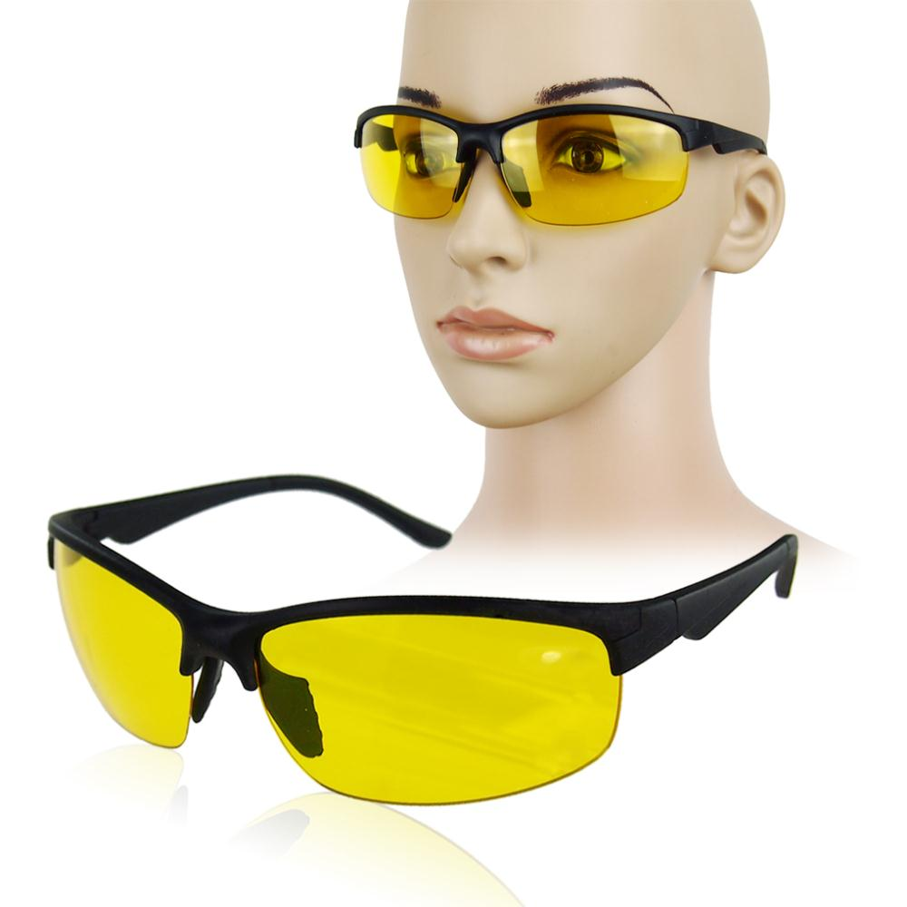 New arrival Plastic + Resin HD High Definition Night Vision Glasses Driving Yellow Lens Classic UV400 free shipping(China (Mainland))