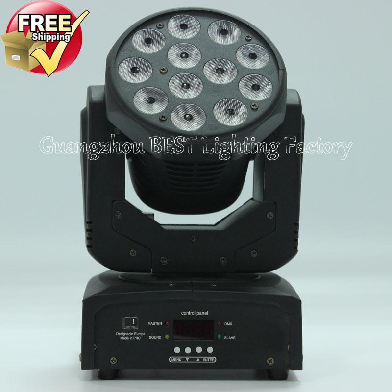 DHL FEDEX express free shipping led wash moving head light rgbw 12x10w the brightest wash led lighting equipment(China (Mainland))