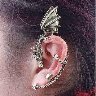 New Arrival Vintage Oriental Dragon Dragon Wings Earrings  Fashion Ear Clip  24Pcs/lot