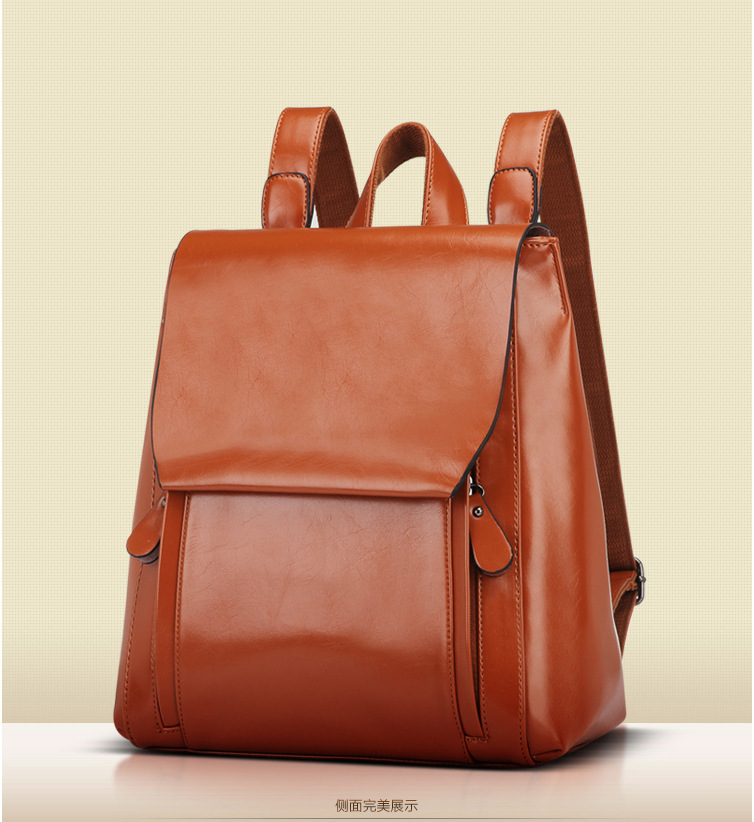 STYLISH CASUAL LADYS COWHIDE LEATHER BACKPACK FASHION WOMENS BACKPACK BAG BROWN SOLID BAG TRAVELING BAG FREE SHIPPING UT168823<br><br>Aliexpress