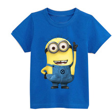 Hot cartoon anime figure despicable me minions clothes minion costume children s clothing children t shirts