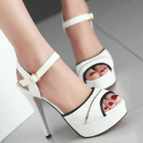 Fashion Rome Style Women Sandals Cover Heels Platform High Heels Sandals Luxury Cutouts Lady's Shoes