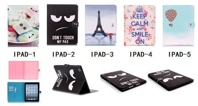 For Apple iPad Mini 1/2 7.9 inch Covers Good Quality New Cartoon Lovely Cute Dessert Tower Balloon PU Leather Back Phone Cases(China (Mainland))