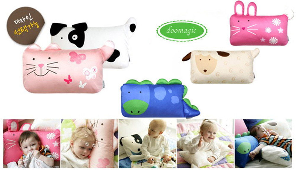 Cat Dog Bunny Animal prints cartoon baby pillow cover /Children's Modeling Animal-shaped Pillowcases
