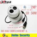 DAHUA clean stock price HDCVI HAC HDW1200EMP A 2MP DOME Camera built in mic CMOS 1080P