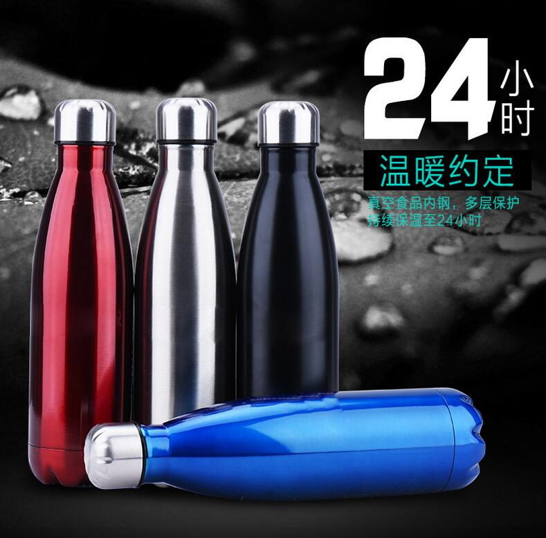 Free Shipping New 2016 keep cold 304 stainless steel Sports Termo Teavel Mug Cup pot vacuum thermos household hot water bottle(China (Mainland))