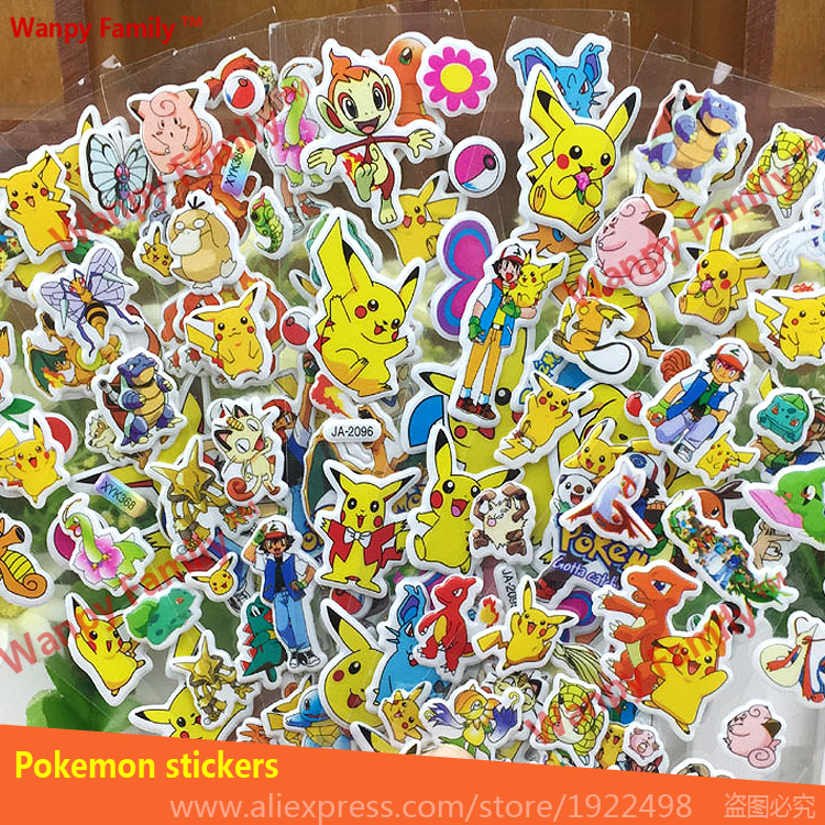 Cute Funny Pikachu Cartoon Wall stickers,Pokemon Pikachu DIY toy ...