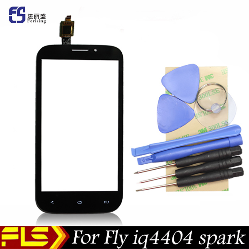 New Original Front Outer Glass Capacitive Touch Screen For Fly iq4404 spark black and white free shipping + free 8 tools